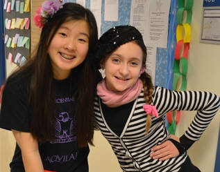 Gifted girls are best friends at a school near Chicago