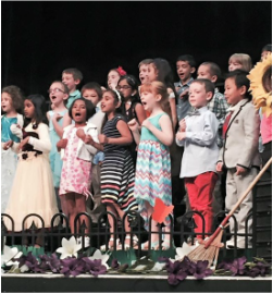 SAA lower school students sing in the Spring concert