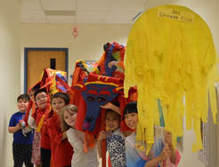 gifted students in Chinese club celebrate the new year