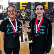 Gifted students at Science Olympiad competition